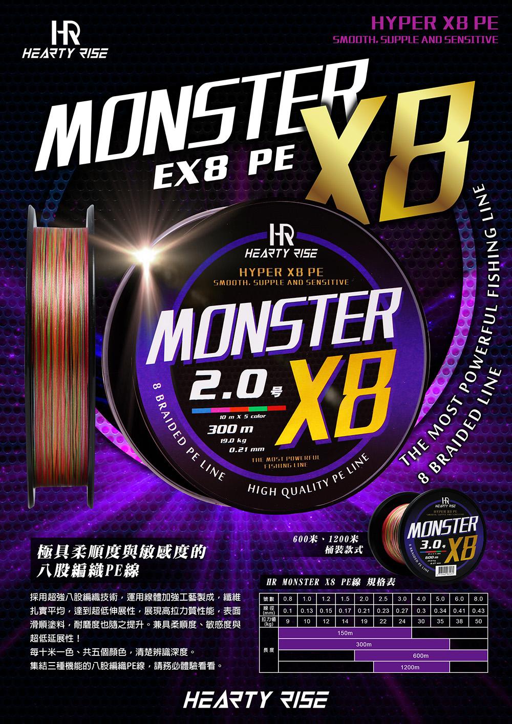 HR MONSTER X8 PE線 1000-01